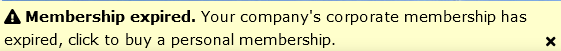 ! Membership expired. Your company's corporate membership has expired, click to buy a personal membership.